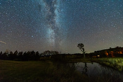 The Milky Way and Rural Landscape (Merrillie) Tags: night glitter landscape winter astrophotography australia rural water newsouthwales astro paddock nsw reflection country astronomy outside pond dam astrology milkyway sky tree nightsky stars outdoors gresford