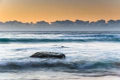Sunrise by the Sea (Merrillie) Tags: daybreak sunrise coastal nature water centralcoast morning sea bluesky macmasters newsouthwales rocks earlymorning nsw landscape australia ocean scenic waterscape waves blueskies macmastersbeach outdoors seascape dawn coast sky seaside