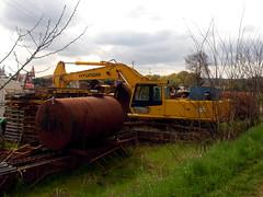Hyundai Robex 420-2? (Falippo) Tags: hyundai excavator bagger digger escavatore movimentoterra ruspa earthmovingmachine robex cantiere