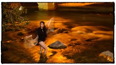 Tiffany by the Bow. #photooftheday #photography #photoadaychallenge #project365 #canon7d #canon2470 #portrait #river #night #yyc #calgary (PSKornak) Tags: photooftheday photography photoadaychallenge project365 canon7d canon2470 portrait river night yyc calgary tiffany glow longexposure bowriver alberta canada