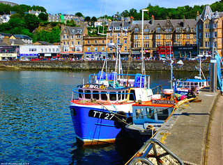 Scotland West Highlands Argyll fishing trawlers docked at Oban 7 July 2018 by Anne MacKay