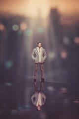 Lonesome (Ro Cafe) Tags: 52semanas52palabras impar nikkor105mmf28 reflections sonya7iii bokeh closeup oddnumber setup miniature littlepeople macro