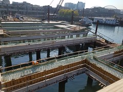 Construction of the passenger-only ferry facility - Sept. 2018 (WSDOT) Tags: colmandock coleman puget sound ferry ferries construction seattle waterfront