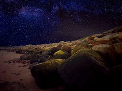 Perfect stars (krpena.lutkica) Tags: stone rocks sky milkyway scenicview perfection atlantic ocean