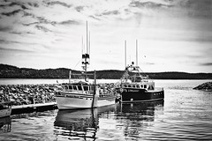 Havre Saint Pierre (stephaneblaisphoto) Tags: anchored beauty nature cloud sky day fishing boat harbor mast mode transportation moored nautical vessel no people outdoors pole sailboat sea travel water waterfront yacht bw blackandwhite monochrome quebec canada