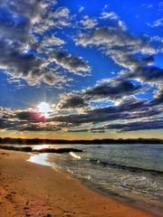 Cloud patterns over the beach III (elphweb) Tags: hdr highdynamicrange nsw australia coast coastal seaside sky skies clouds cloudy cloud beach sea ocean water