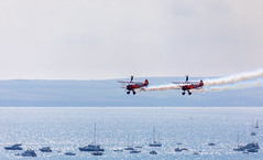 Wing Walkers (nicklucas2) Tags: bournemouthairfestival aeroplane wingwalkers sea