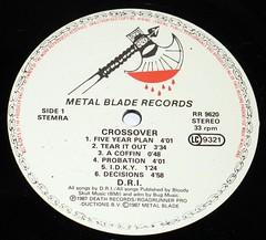 "D.R.I Crossover 12"" Vinyl LP (vinylmeister) Tags: vinylrecords albumcoverphotos gramophone lp heavymetal thrashmetal deathmetal blackmetal vinyl schallplatte disque album"