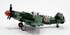 Yakovlev Yak-9 (4) (Dornbi) Tags: wwii lego yakovlev yak yak9 soviet aircraft fighter