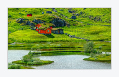 The red house on the green field (Fr@nk ) Tags: frnk mrtungsten62 recent rec0309 europe norway travel red dsc09361 lsilf
