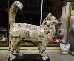 """""""Cat-A-Log"""" (dr.tspencer) Tags: tamron16300mm catnaroundcatskill2018 catnaroundcatskill catskillny catskill hudsonvalley greenecounty publicart fiberglasspublicart"""