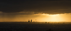 Guided By The Light (SteveKPhotography) Tags: sony stevekphotography alpha a99ii ilca99m2 sal70400g2 city cityscape sunset sunlight plane outdoors light weather sky skyline landscape scenery scenic cityofperth lesmurdie