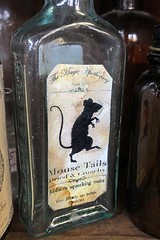 Mouse Tails (AntyDiluvian) Tags: boston massachusetts northshore essex capeann antiques antiqueshop howardsflyingdragonantiques flyingdragon bottle label themagicapothecary 1855 mousetails driedandcrunchy squeakyvoice