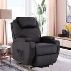 Power Lift Chair Real Leather Recliner Armchair Elderly Chair Lounge Seat Black (dmdecorandmore) Tags: all home garden