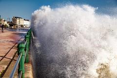 PENZANCE PROMENADE (midlander1231) Tags: sea waves storm cornwallstorm penzance sky nature