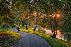 A walk in the park (anderswetterstam) Tags: evening light nature park city sunset sunlight people summertime relaxinf