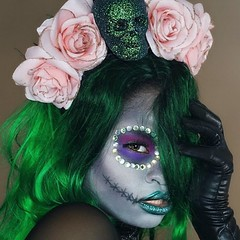 Awsome Halloween Makeup  Makeup by @chinabell (ineedhalloweenideas) Tags: ineedhalloweenideas halloween makeup make up ideas for 2017 happy night before christmas october 31 autumn fall spooky body paint art creepy scary pumpkin boo artist goth gothic