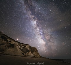 Aquinnah Cliffs under the Milky Way (jeremyzolkowski) Tags: night astro astrophotography milkyway nightscape longexposure stars