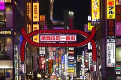 The Entryway (UrbanCyclops) Tags: tokyo japan asia shinjuku neon signs advertising lights night cityscape urban metropolis street road colorful city architecture buildings