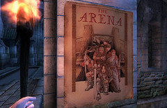 The Arena (Rain Love AMR) Tags: oblivion pc gaming tes screenshot screencap poster ad torch advertisement