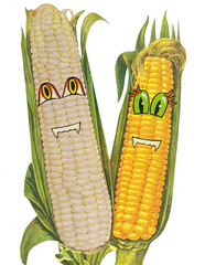 Corny (dadadreams (Michelle)) Tags: collage art corny corn earsofcorn anthropomorphic foodart