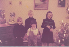 Phil and me with our Swiss cousins (Frederic and Alexandra) (nick_cw1861) Tags: philsmith brother christmas cousins nicksmith frederic alexandra lausanne switzerland grandparents grandmother grandfather