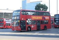 TT DN33797 @ Stratford bus station (ianjpoole) Tags: tower transit alexander dennis enviro 400 sn13chk dn33797 working route 25 holles street oxford circus hainault ilford