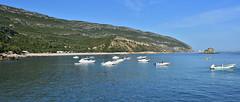 Portinho da Arrábida (pedrik) Tags: seaside panorama portugal boats bay portinhodaarrábida d7200 nikkorafsdx35mmf18g fotoxx gimp sea arrábida arr arrábidanaturepark