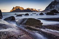 Utakleiv rocks (Lukasz Lukomski) Tags: beach lofoten longexposure landscape nikond7200 sigma1020 lukaszlukomski norway rocks mountains sea coast water island archipelago