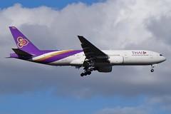 HS-TJU Thai Airways Boeing B777-2D7(ER) (johnedmond) Tags: perth ypph westernaustralia thai boeing b777 777 australia aviation aircraft aeroplane airplane airliner plane sel55210 55210mm ilce3500 sony