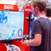 Visitor playing Starlink: Battle for Atlas for Nintendo Switch at Gamescom 2018