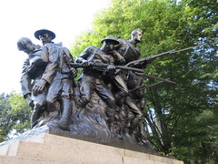 107th Infantry Memorial World War One Soldiers NYC 8268 (Brechtbug) Tags: 107th infantry memorial dedicated soldiers who died during world war i created by sculptor karl morningstar illava central park 5th ave 67th streets represents seven nyc 08232018 new york city september 29 1927 wwi one public art statue sculpture august 2018