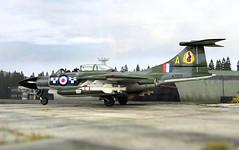 "1:72 Blackburn B.87 ""Barghest"" F(AW).3; ""WZ507/A"" of the Royal Air Force 19 Squadron; Leconfield, Yorkshire (Great Britain), summer 1959 (Whif/Kitbashing) (dizzyfugu) Tags: 172 blackburn barghest buccaneer hawker hunter gloster javelin cf100 canuck fifties raf centenary whif whatif fictional aviation kitbash modellbau dizzyfugu royal air force 19 squadron allweather fighter sapphire firestreak"