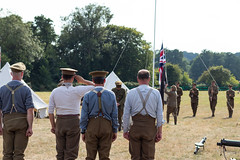 Salute the Flag (Mike South Photography) Tags: 10th essex great war living history group 10thessex regiment firstworldwar first world military army khaki british soldier tommy fighting centenary uniform flag salute livinghistory historical reenactment 10thessexregiment worldwarone ranks presentarms soldiers colours unionflag