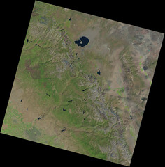 Southern Sierra Nevada and the Ferguson Fire Burn Scar (sjrankin) Tags: 28august2018 edited nasa usgs landsat8 sierranevada centralvalley fire burnscar yosemite yosemitenationalpark yosemitevalley monolake greatbasin nevada california northerncalifornia fergusonfire lc08l1tp042034201808222018082201rt