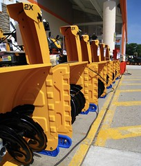 are you ready? (muffett68 ☺ heidi ☺) Tags: ansh scavenger10 machinery snowblowers repetition yellow