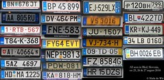3 days, 1 little town, license plates from 26 countries (NielsdeWit) Tags: nielsdewit licenseplates a austria al albania b belgium bih bosnia herzegovina ch switzerland cz czech republic d germany dk denmark f france fin finland gb great britain gr greece h hungary hr croatia i italy l luxembourg lv latvia nl the netherlands p portugal pl poland ro romania rus russia sk slowakia slo slovenia tr turkey ua ukraine bosniaandherzegovina czechrepublic thenetherlands