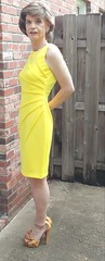 Mustard Yellow Heels (3 of 5): View of Ankle-Strap (s_a_essay) Tags: transgender shoes heels