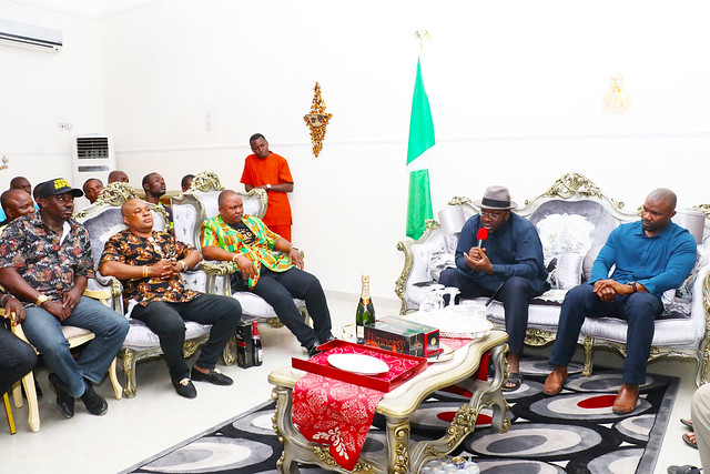 HSDickson- Condolence visit to HIS Excellency by Ijaw Music Icons, led by Chief Allen Otobo. 25th August 2018