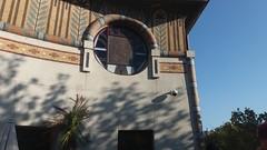 Louxor cinema terrace (mr broddy) Tags: louxor paris mosaic terrace shadow window paris1920 cinéma terrasse wall plant cctv henrizipcy circle