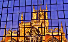 Holy Trinity Church in Hull (Tony Worrall) Tags: hull city church reflections wall glass house god east town architecture building built square block blocky art flat shine sunlit grand ornate hullcity relic past historical history historic geometric shapes nice beautiful beauty blue color colours colourful shades shade northeast buy sell sale bought stock space good instagram flickr