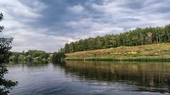 Pond in Semenovka (Valery Goloha) Tags: лето мобилография пруд lake landscape nature summer ukraine water sky forest mobilephoto