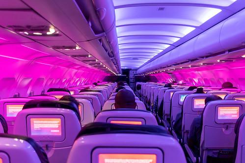 Mostly empty flight