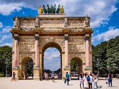180718-039 Arc du Caroussel (clamato39) Tags: arc arch paris france architecture ciel sky clouds nuages voyage trip landmark europe patrimoine