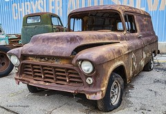 Restoration Project (Kool Cats Photography over 10 Million Views) Tags: gmc chevy oklahoma restore rusted rust rusty rustic abandoned vehicle wheels outdoor classiccar classic paneltruck truck