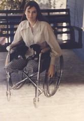 120-01 BK/AK 1960s Amputee Laday (jackcast2015) Tags: amputee legamputee wheelchairwoman wheelchair disabledwoman crippledwoman amputeewoman nolegs belowkneeabovekneedoubleamputeeamputee bkakamputee