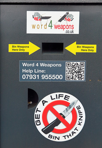 Sign of the times - Knife bin