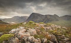 The Great Herdsman (explore) (calumarchibald) Tags: buachaille etive mor glencoe mountain scotland stob dearg rocks scottish highlands sky heather canon canon24105