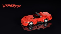 Dodge Viper RT/10 (THIRMO) Tags: thirmo vonerics lego moc 6wide cityscale dodge viper rt10 sri ldraw povray minifig