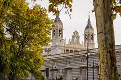 Afosi pomeriggi madrileni - Cattedrale dell'Almudena (Andreas Laimer) Tags: madrid spagna pomeriggio colori chiesa cattedrale alberi foglie luce sony nex6